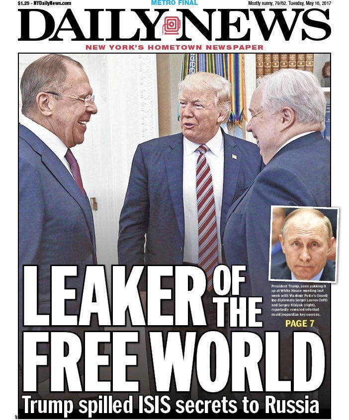 """WaPo: Trump Revealed """"Highly Classified Information"""" In Meeting With Russians, White House Denies"""