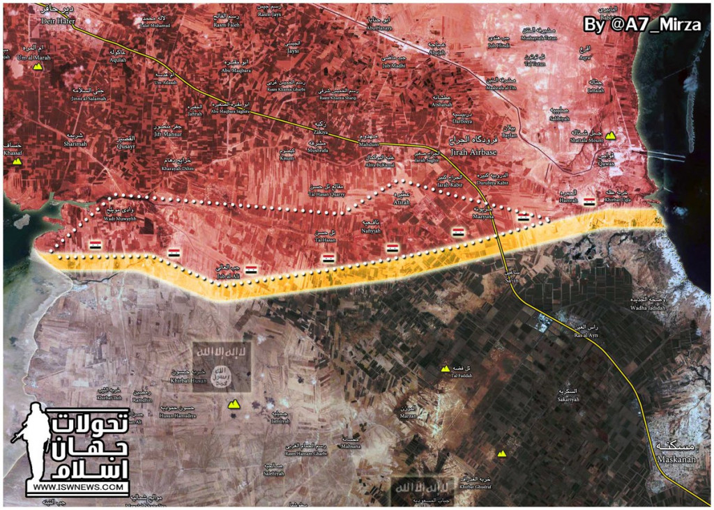 Map: Tiger Forces Progress Against ISIS In Eastern Aleppo