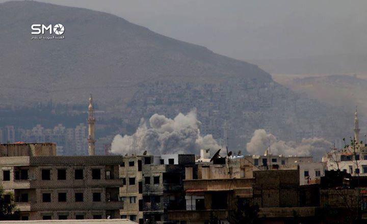 Syrian Air Force Destroys Hayat Tahrir al-Sham Positions In Al-Qaboun District