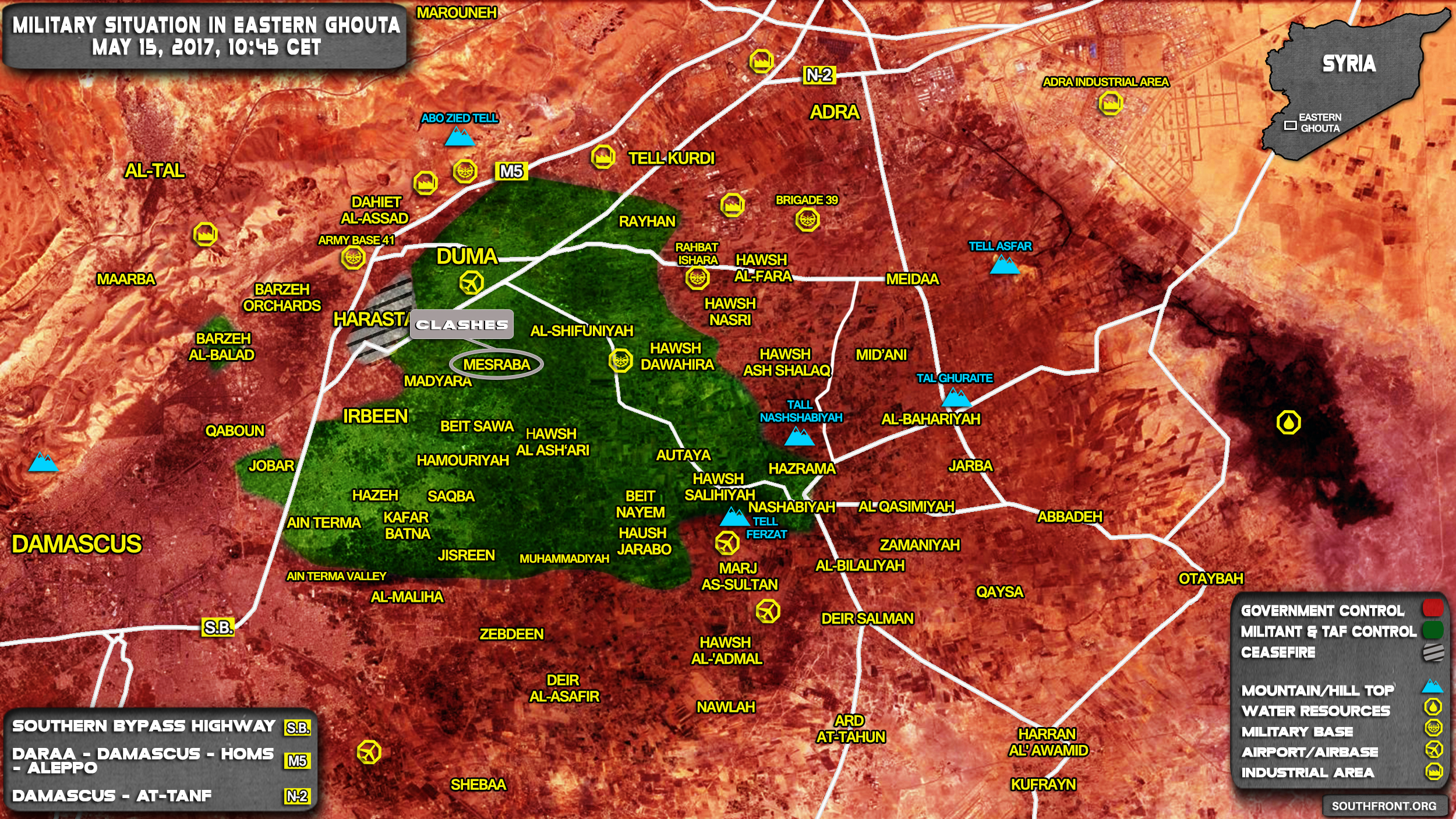 Military Situation In Eastern Damascus After Liberation Of Qaboun And Tishreen