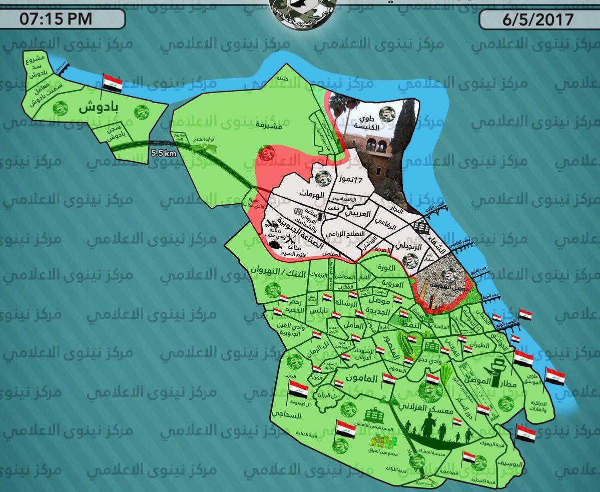 Iraqi Army Liberats Al-Mushirfa Area Of Mosul From ISIS
