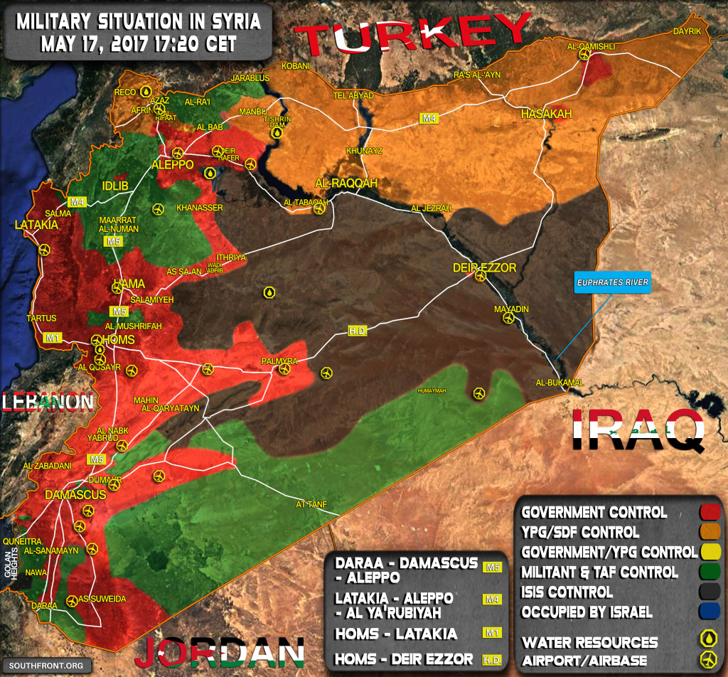 Military Situation In Syria On May 17, 2017 (Map Update)