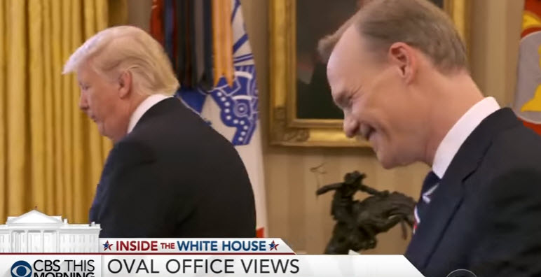 """That's Enough"" - Angry Trump Kicks CBS Reporter Out Of Oval Office"