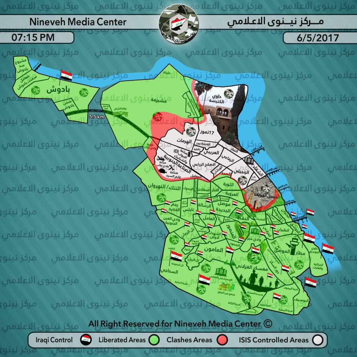 The Iraqi Army Captures 30 Tammoz Street In Western Mosul (Map, Photos, Video)