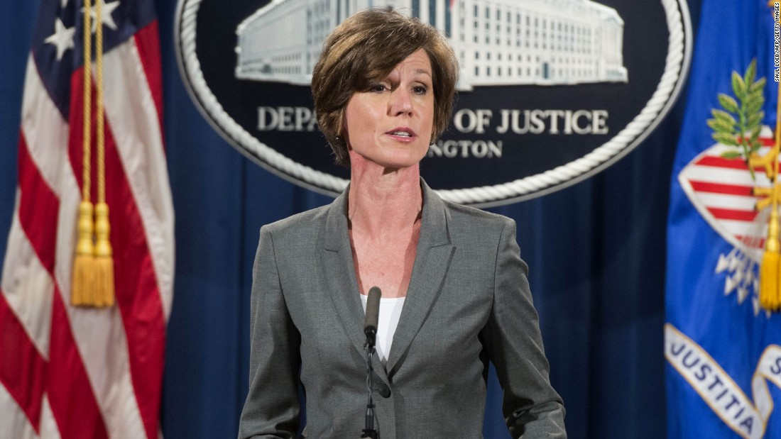 """Trump Accuses Sally Yates Of Leaking """"Classified Information Into The Newspapers"""""""