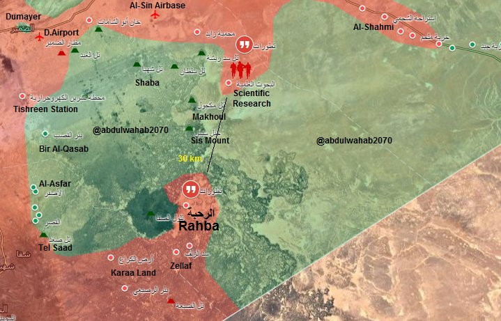 Government Forces Push Further In Syrian Desert, Liberate More Areas (Map)