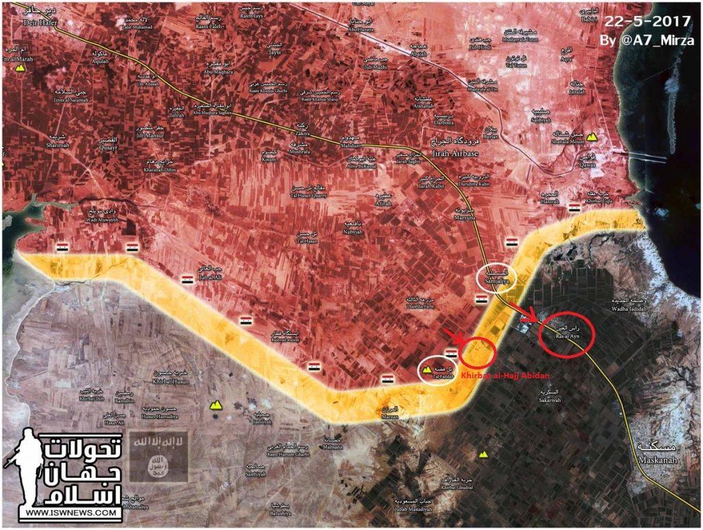 Tiger Forces Liberated Khirbat al-Hajj Abidan Village In Aleppo Province (Map)