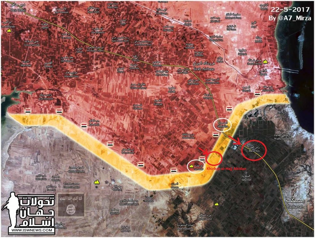 Tiger Forces Liberated Khirbat al-Hajj Abidan Village In Aleppo Province (Map)