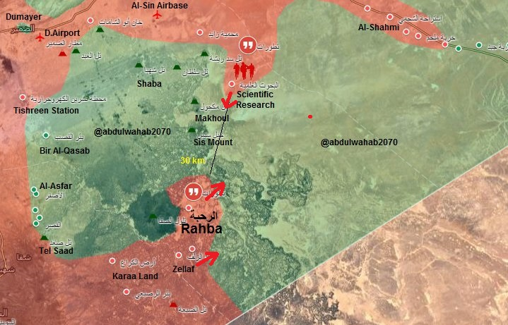 Government Forces Advancing On Multiple Frontlines In Southeastern Syria
