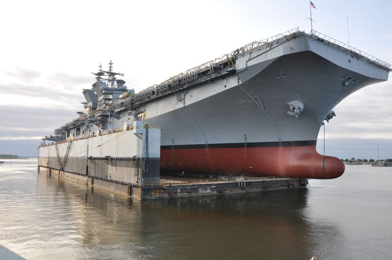 US Navy Launches LHA 7 Tripoli Amphibious Assault Ship (Video)