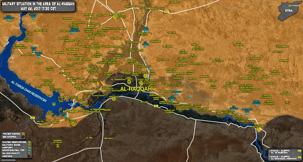 Military Situation In Raqqah Countryside On May 22, 2017 (Syria Map Update)