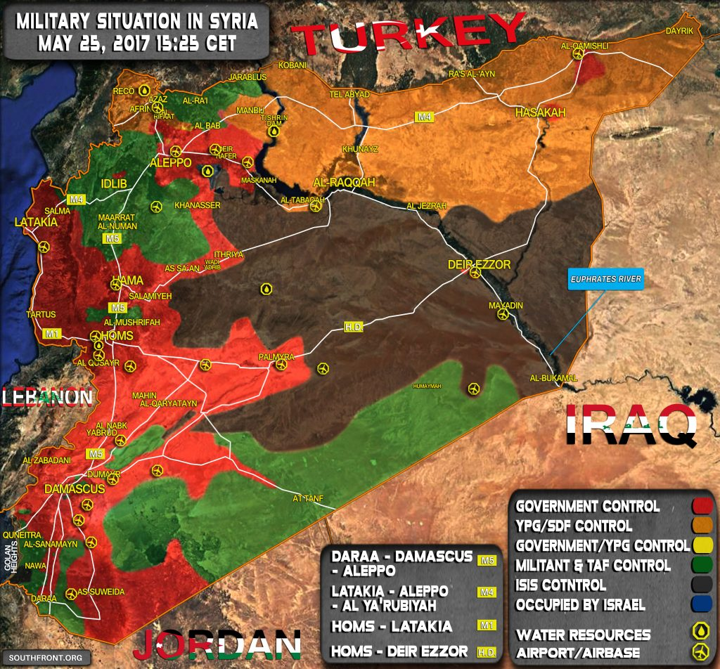 Military Situation In Syria On May 25, 2017 (Map Update)