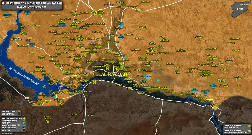 Military Situation In Raqqah Countryside On May 25, 2017 (Syria Map Update)