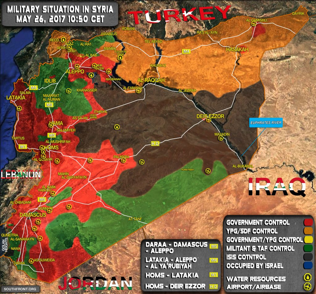 Military Situation In Syria On May 26, 2017 (Map Update)