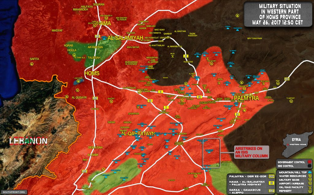Syrian Army Takes Control Of Hills North Of Zaza Triangle In Homs Province
