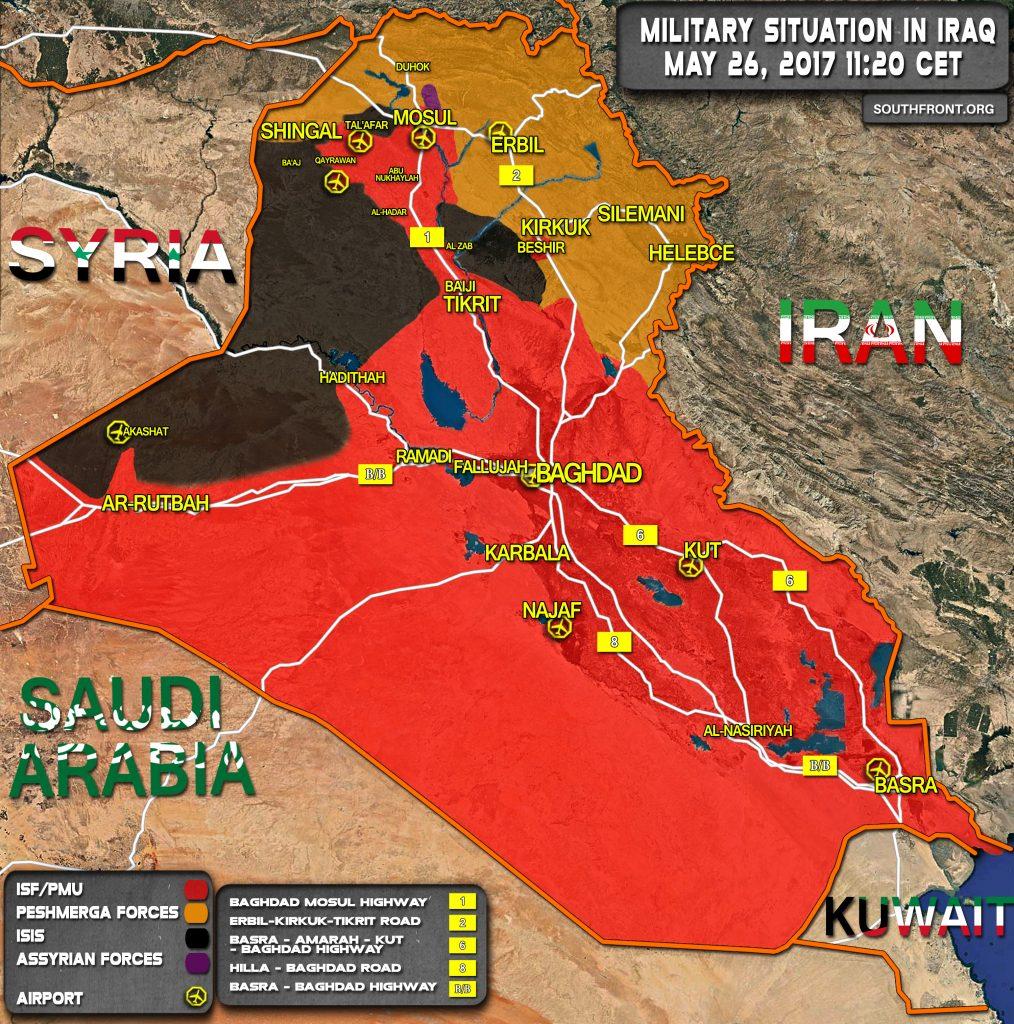 Popular Mobilization Units Advancing Towards Baaj Near Syrian Border