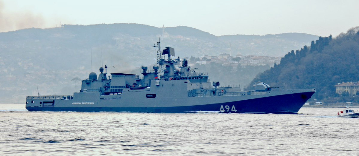 "2. ""Admiral Grigorovich"", April 7, 2017, view from other shores of the Borphorus (photo Yörük Işık)"