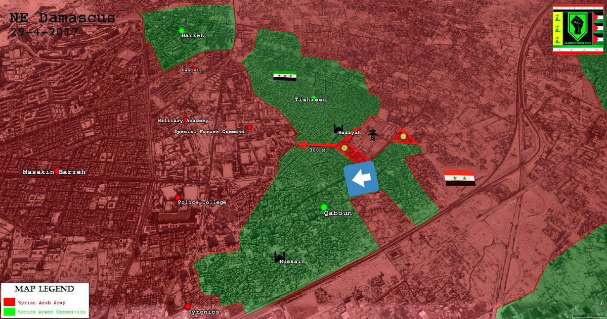 Syrian Army Captures More Buildings In Qaboun, Militants Fight Each Others In Eastern Ghouta