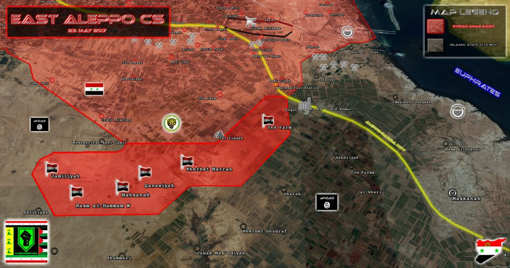 Map Update: Tiger Forces Progress Against ISIS In Eastern Aleppo
