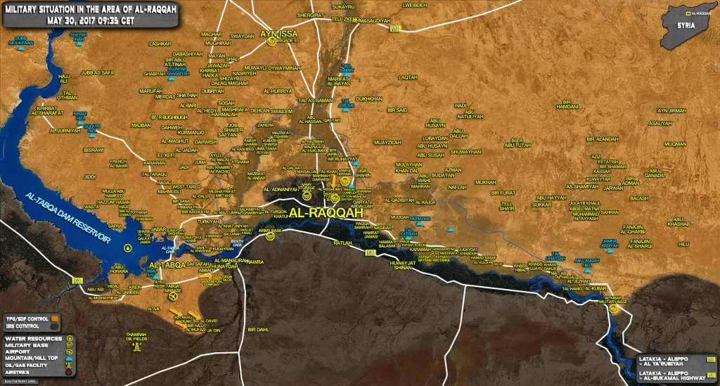 Military Situation In Raqqah Countryside On May 30, 2017 (Syria Map Update)