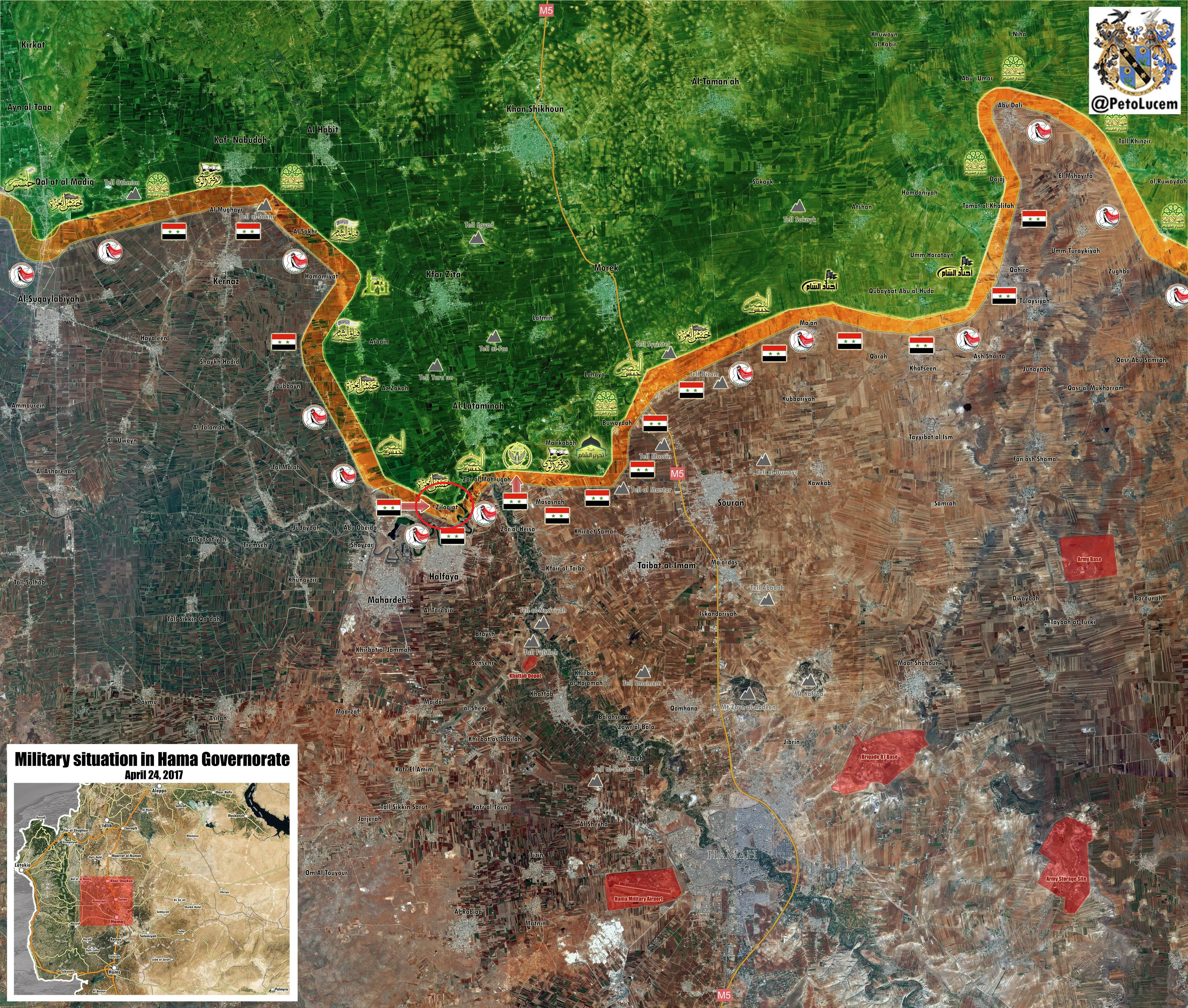 Syrian Army Gains Points In Al-Zallaqiat Area In Northern Hama