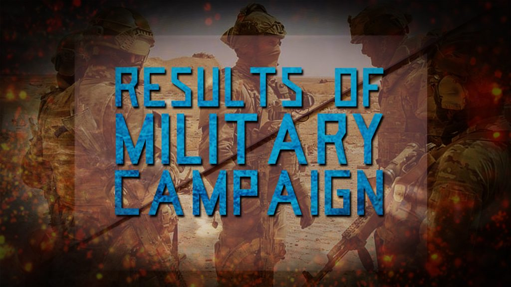 Results of Russian Military Campaign in Syria: October 21, 2016 – May 24, 2017