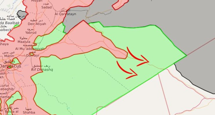 Syrian Army Within Km Of AlTanaf Controlled By USled Forces - Map of area that us forces control in syria