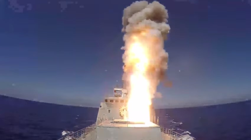 Russian Navy Launched Kalibr Cruise Missiles On ISIS Terrorists Deployed From Raqqah To East Of Palmyra (Video)