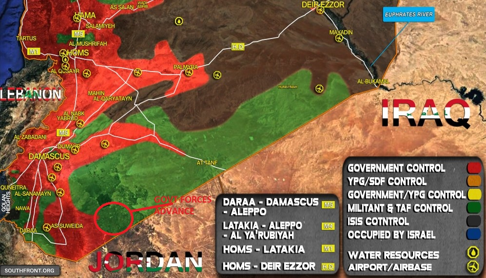 Syrian Army Takes Control Of Large Chunk Of Syrian-Jordanian Border