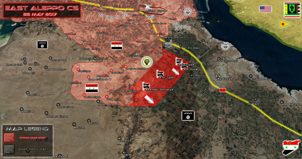 Tiger Forces Encircling ISIS-held Town Of Maskanah In Aleppo Province