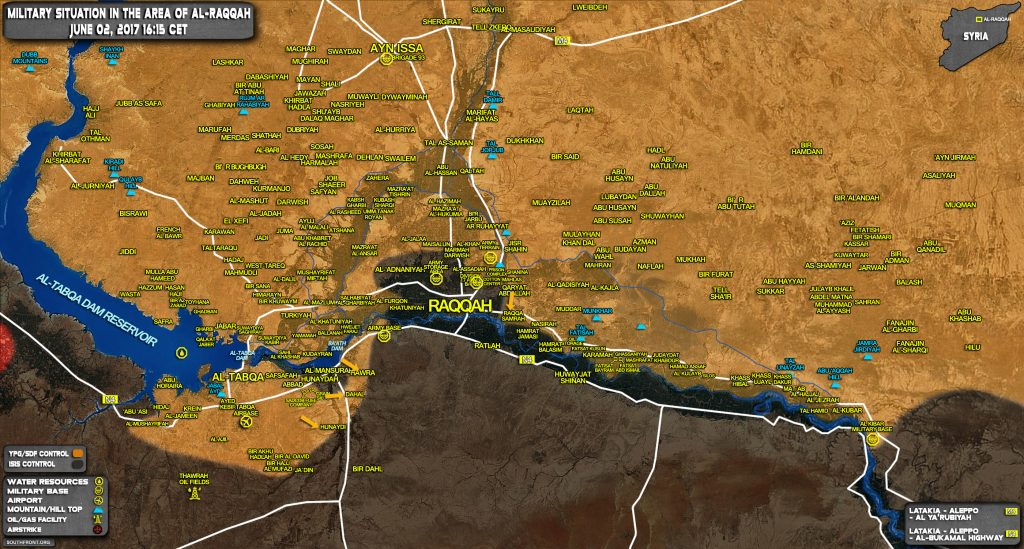 Military Situation In Raqqah Countryside On June 2, 2017 (Map Update)