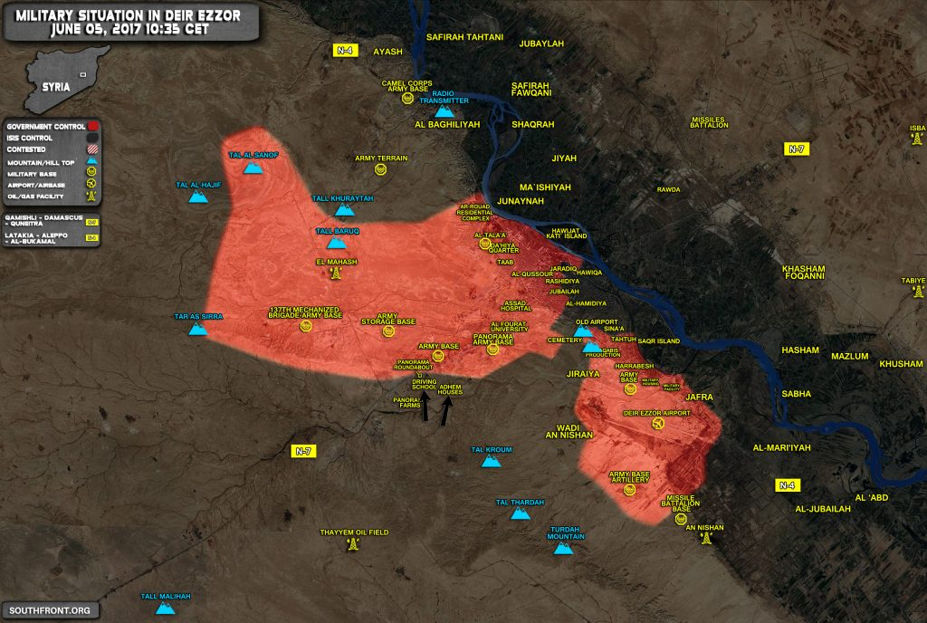 Military Situation In Deir Ezzor As Fighting Intensify In Strategic City