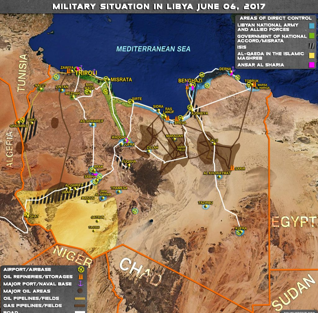 Military Situation In Libya On June 6, 2017 (Map Update)