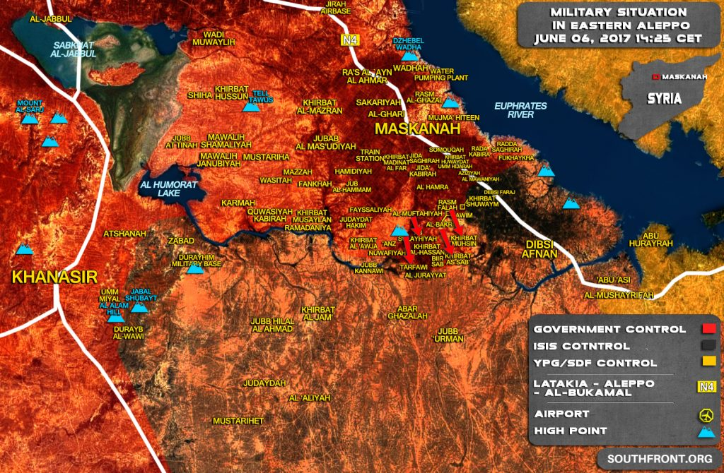 Tiger Forces Further Advanced South Of Maskanah, Liberated More Villages From ISIS (Map)