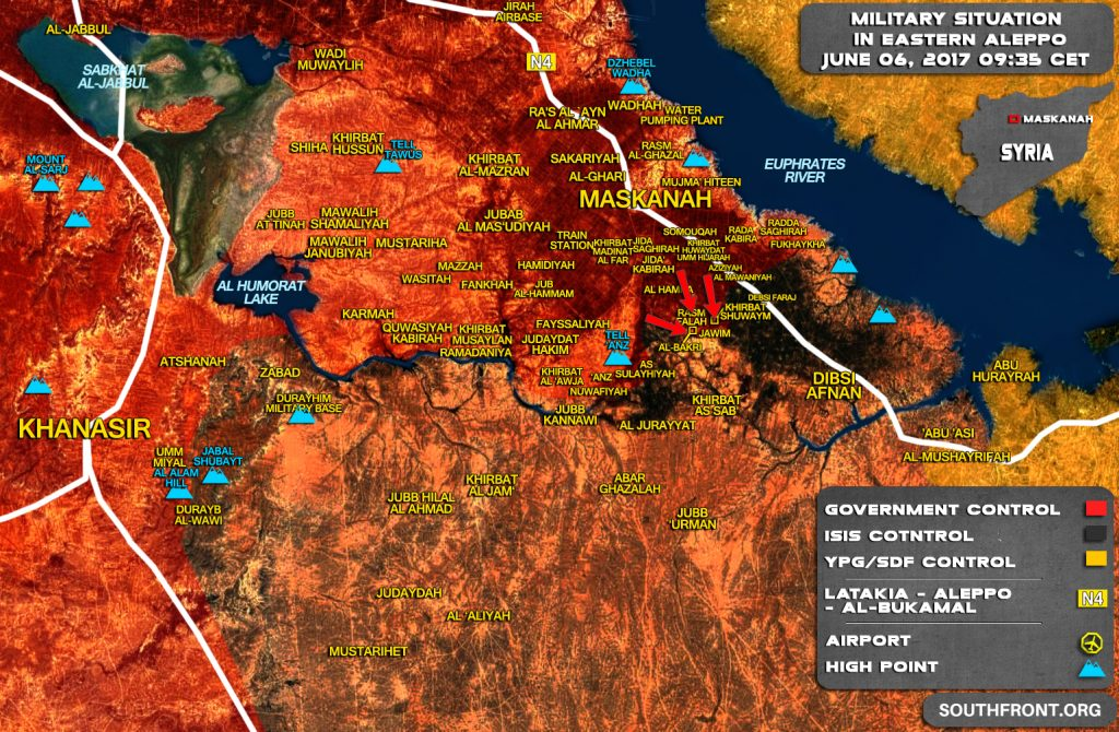 Military Situation In Eastern Aleppo On June 6, 2017 (Map Update)