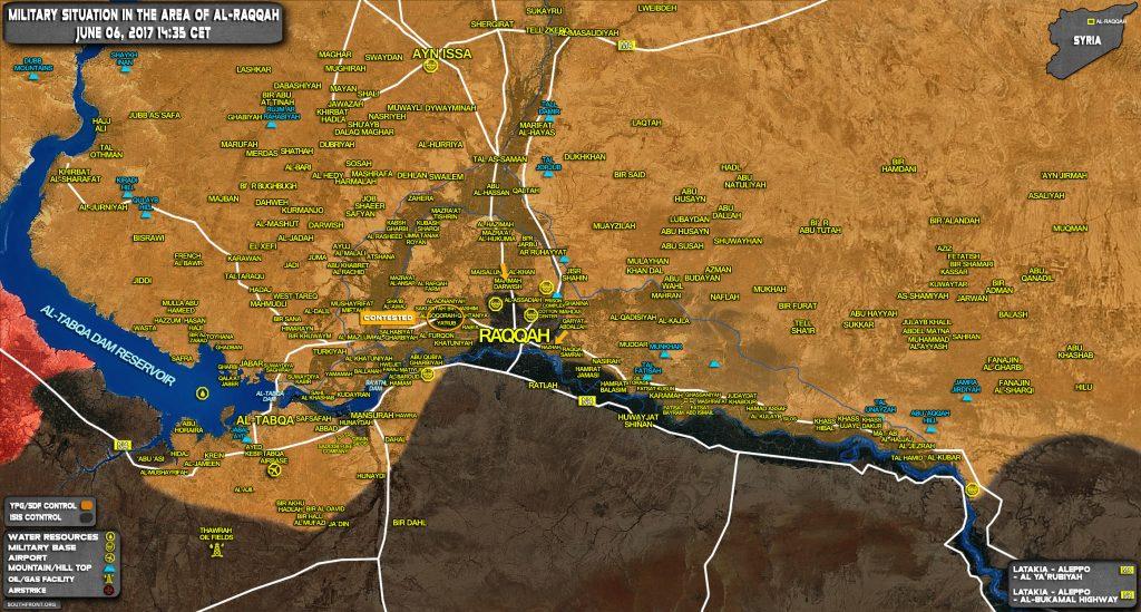 SDF Storms Eastern Part Of Raqqah City, Capures Nazhah Area (Map)