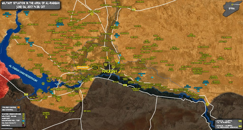 SDF Storms Eastern Part Of Raqqah City, Capures Nazhah Area (Map)