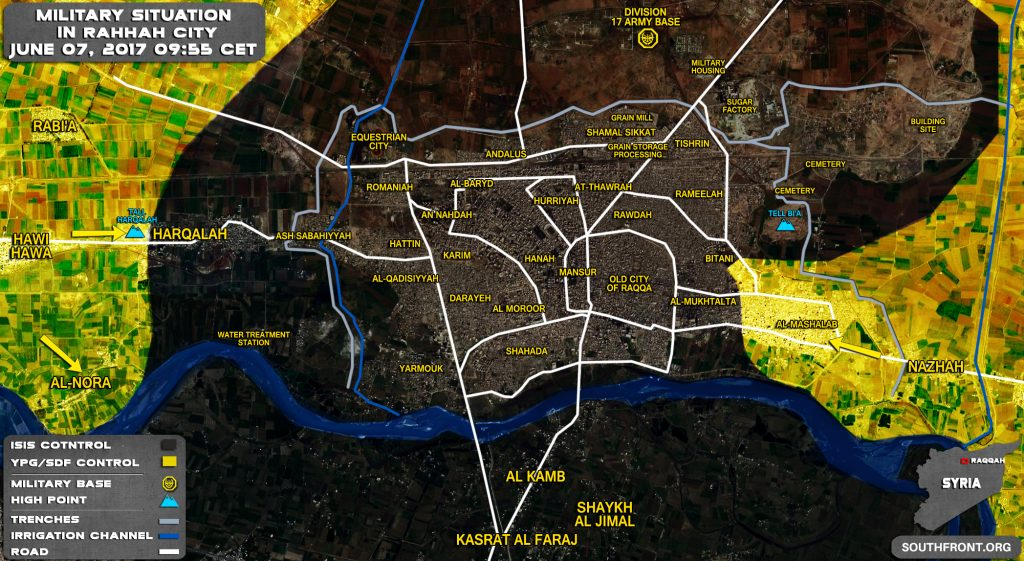 US-backed Forces Made More Gains Against ISIS In Raqqah City (Map)