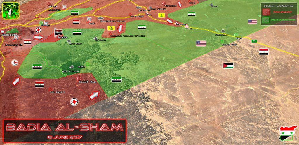 Syrian Army Takes Control Of Dakwa Area In Southeastern Syria (Map)