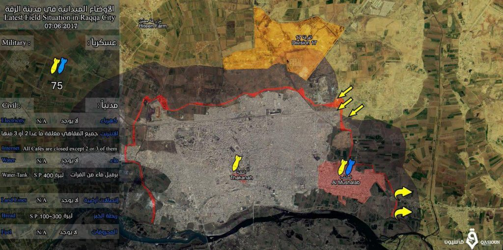 Syrian Democratic Forces Storm Al-Jazra District In Raqqa, Capture 17th Division Base (Video, Photos)
