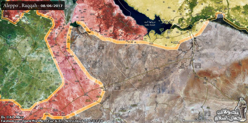 Government Forces Advancing Toward Ithriyah-Raqqa Road From Aleppo Province (Map)