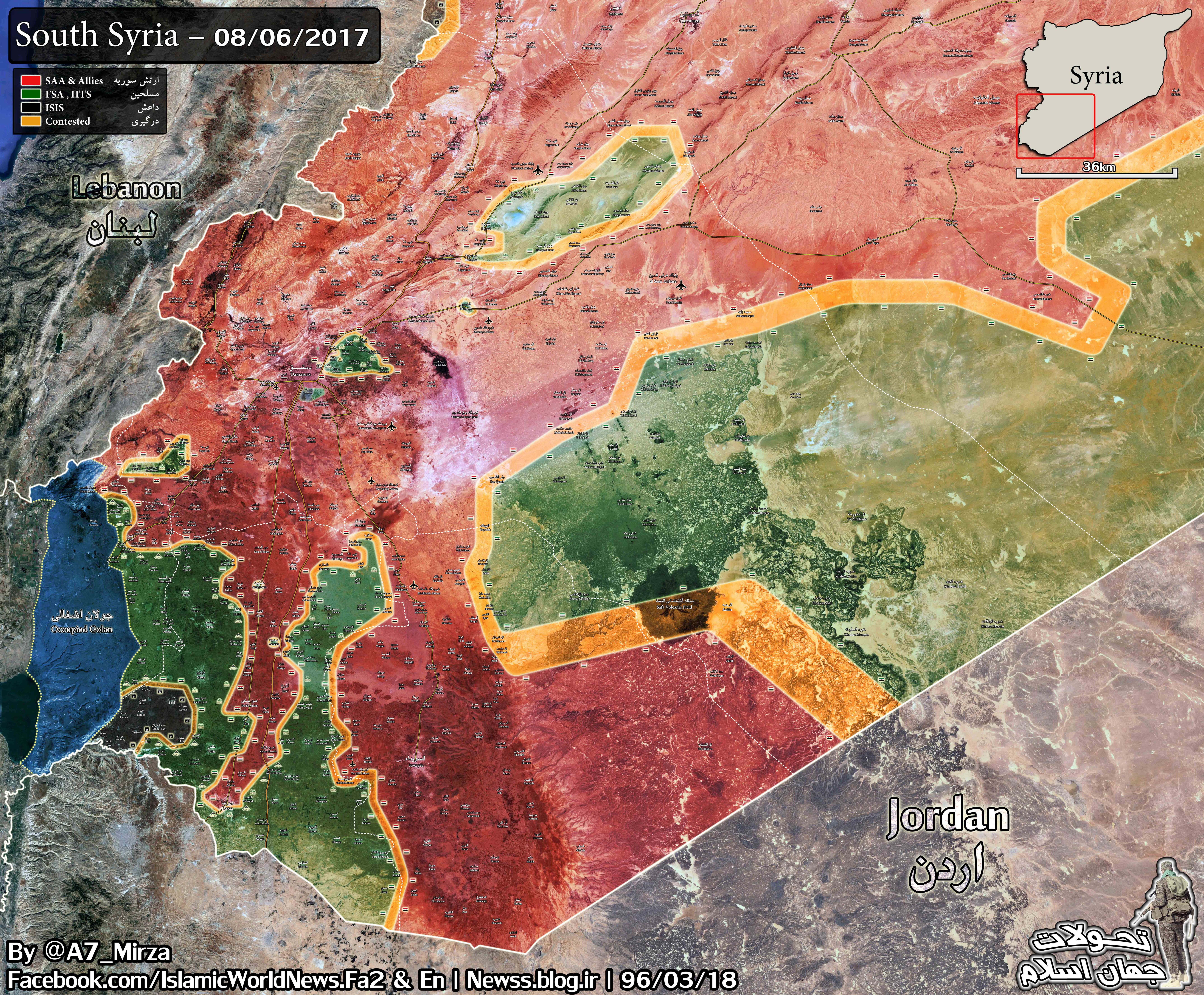 Backed Forces Attacking Syrian Army In Damascus Desert Map Videos - Us allies map 2017