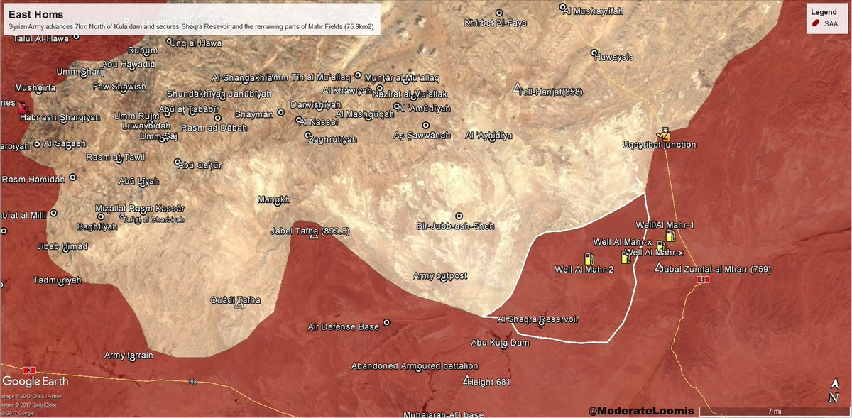 Army Advancing On Huwaisis In Eastern Homs Map