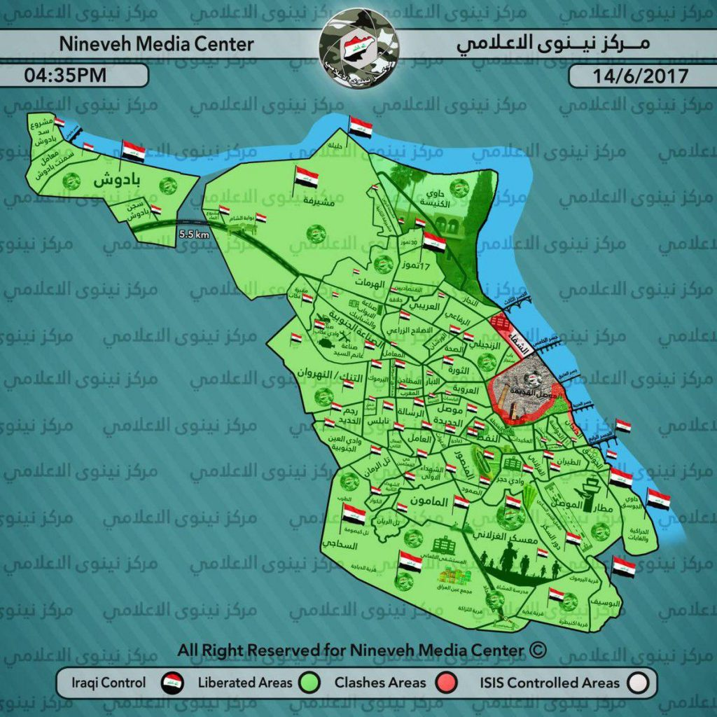 Iraqi Security Forces Liberated Bab Sinjar District IN Western Mosul (Video, Map)