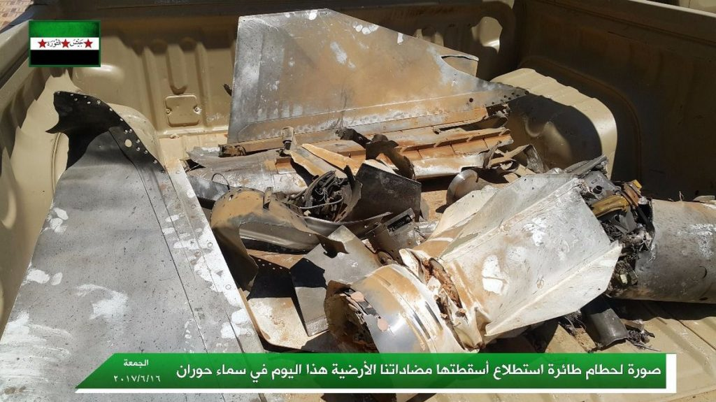 Syrian Air Force Downed Jordanian Reconnisance Unmanned Aerial Vehicle Over Daraa