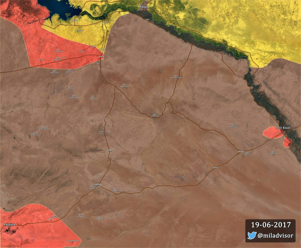 Map Update: Military Situation In Palmyra-Deir Ezzor-Raqqah Triangle