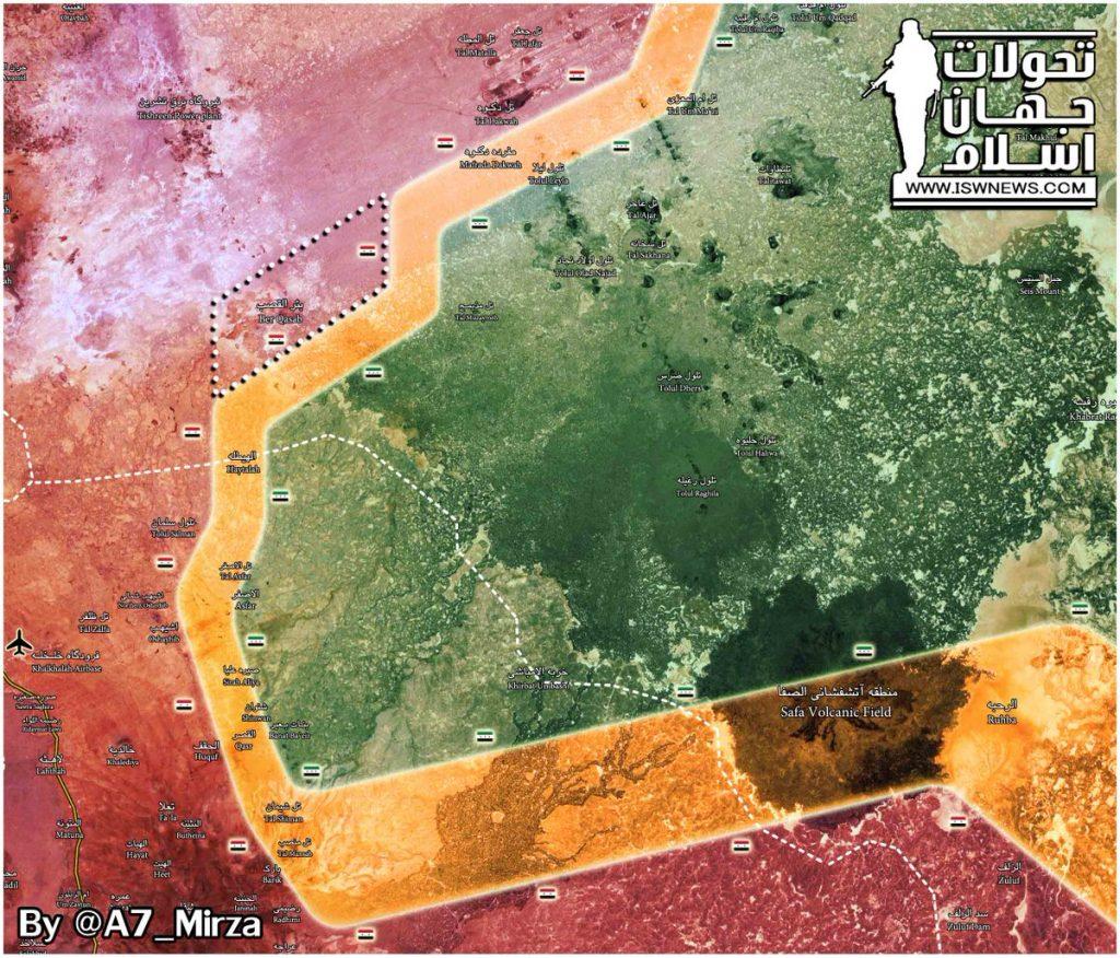 Map Update: Situation In Eastern Damascus Desert After Liberation Of Bir Al-Qasab