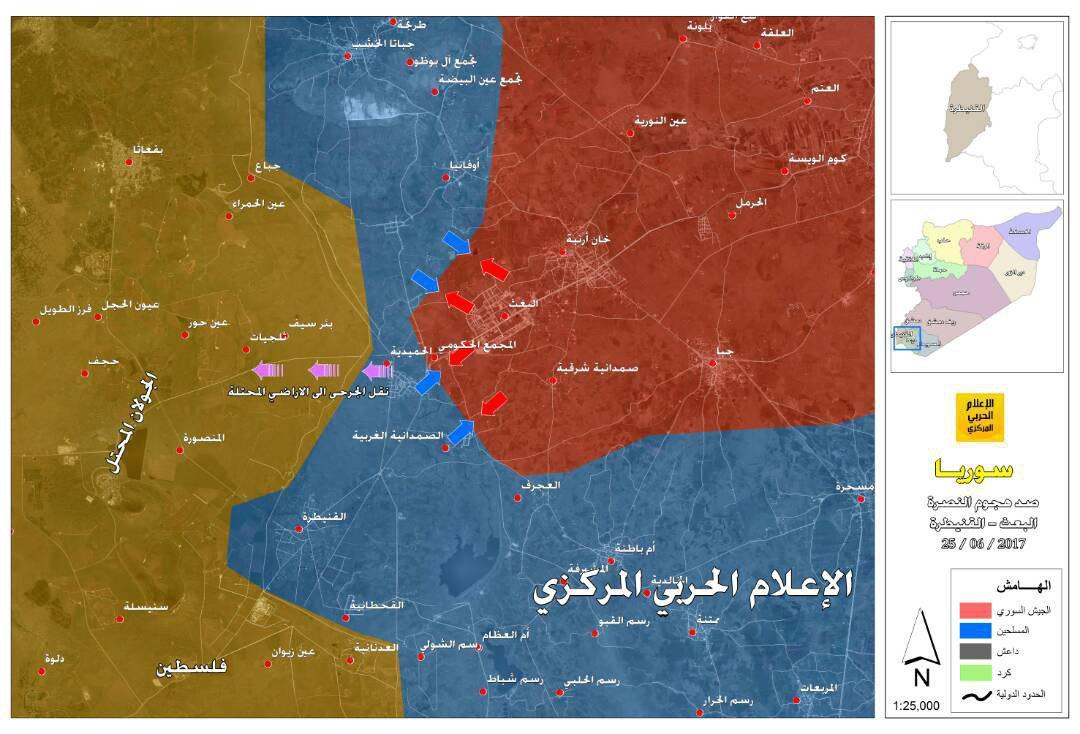Syrian Army Repels Hay'at Tahrir al-Sham Attack In Quneitra