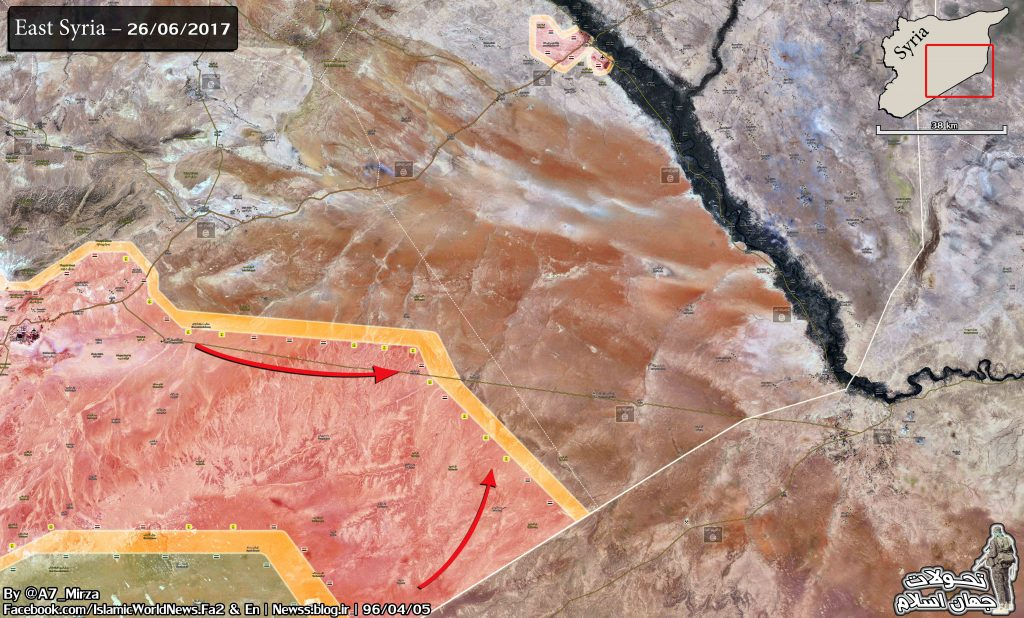 Syrian Government Forces Rapidly Advancing Along Border With Iraq