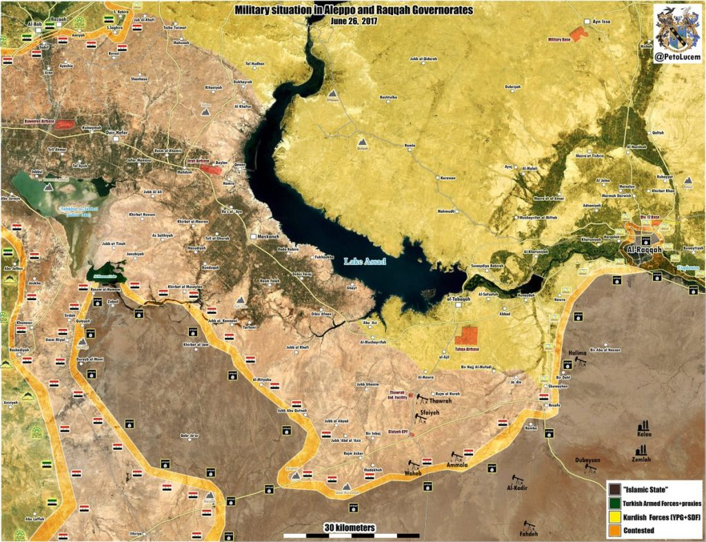 Map Update: Military Situation In Aleppo And Raqqah Provinces After Syrian Army Advances At Ithriyah-Resafa Roads